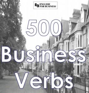 lista de verbos de negocios