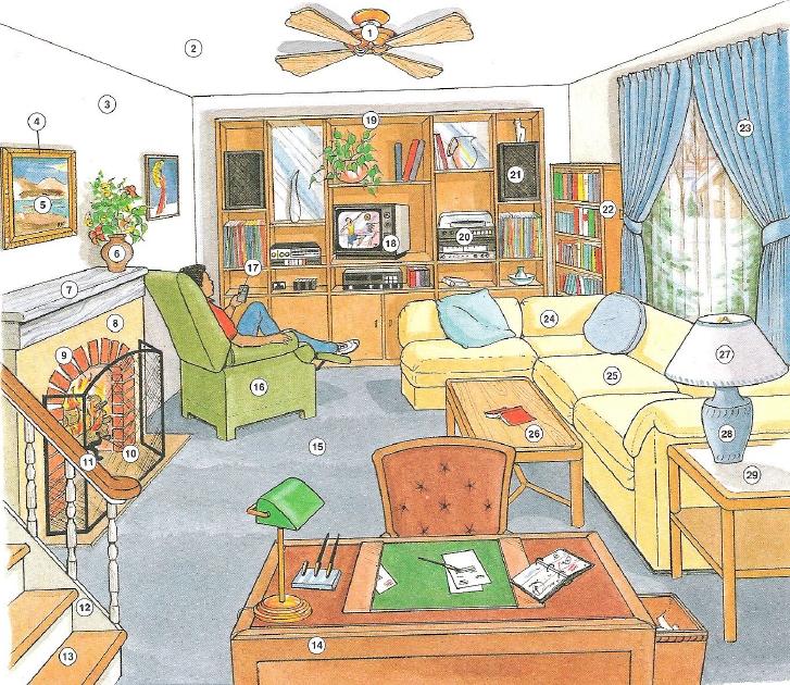 гармонистом картинки для английского предметы дома особое волнение