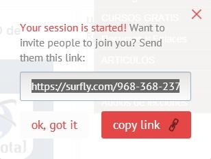 como compartir pagina web