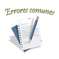 Errores comunes en ingles
