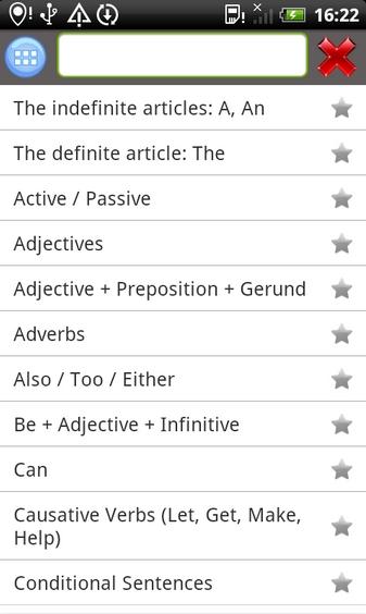 Repaso de gramatica en ingles applicacion android 3